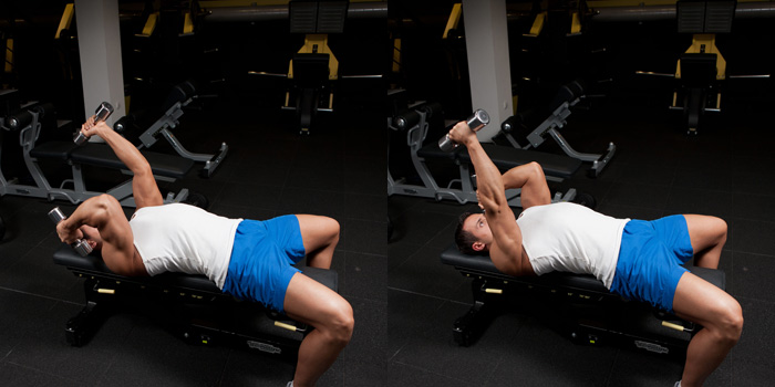 Alternating-Lying-Dumbbell-Triceps-Extension