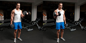 Alternating Standing Dumbbell Biceps Curl