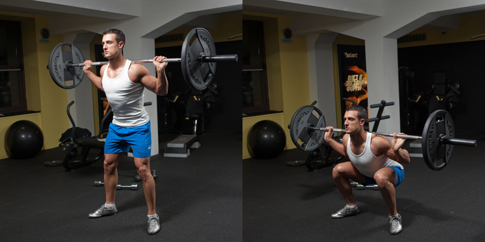 Barbell Full Squat Weight Training Exercises 4 You