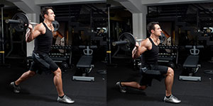 Barbell Stationary Lunges