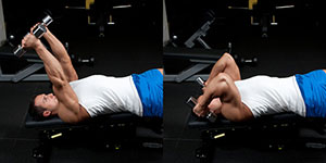 Decline Dumbbell Triceps Extension