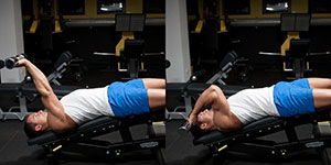Decline Pronated DB Triceps Extension