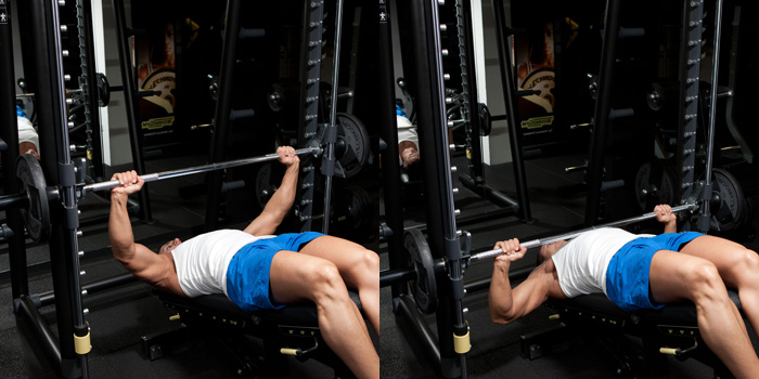 Decline Smith Machine Bench Press Weight Training
