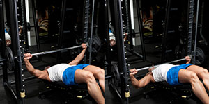 Decline Smith Machine Wide-Grip Bench Press