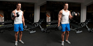 Dumbbell Alternate Bicep Curl With Twist