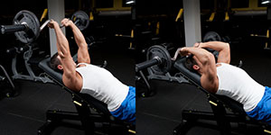EZBar Incline Triceps Extension