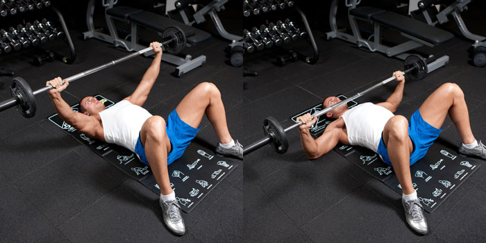 Floor-Bench-Press-Wide-Grip