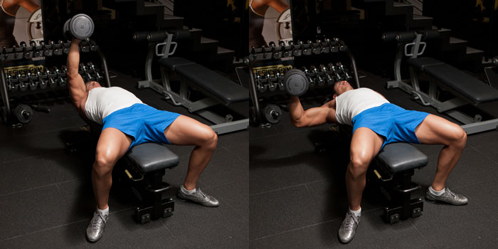 Hammer-Grip-One-Arm-Dumbbell-Bench-Press