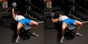 Hammer Grip One Arm Dumbbell Bench Press