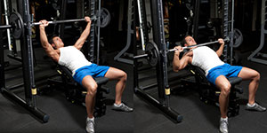 Incline Smith Machine Wide-Grip Bench Press