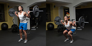 Narrow Stance Barbell Squat