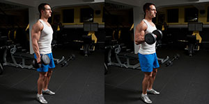 One Arm Standing Dumbbell Curl With Twist