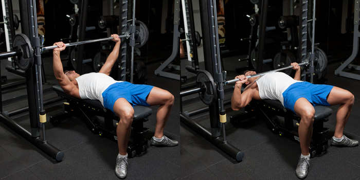 Smith Machine Bench Press Weight Training Exercises 4 You