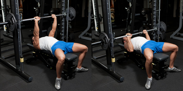 Smith-Machine-Medium-Grip-Bench-Press