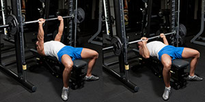 Smith Machine Medium-Grip Bench Press