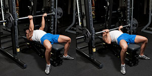 Smith Machine Reverse-Grip Bench Press
