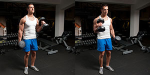 Standing Alternate Hammer Curls