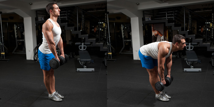 Stiff-Legged-Dumbbell-Deadlift