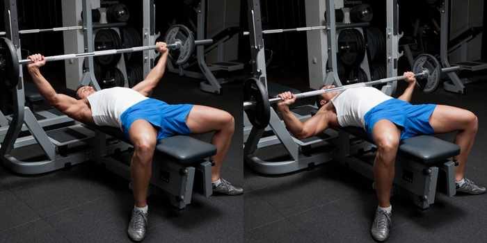 Wide-Grip Barbell Bench Press | Weight Training Exercises ...