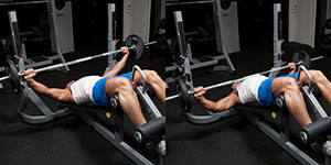 Wide-Grip Barbell Decline Bench Press