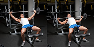 Wide-Grip Barbell Incline Bench Press