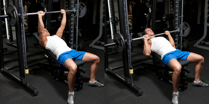 Image result for Barbell Incline Bench Press Medium-Grip